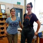 VIU Women in Trades, Carpentry students Natalie and Karly